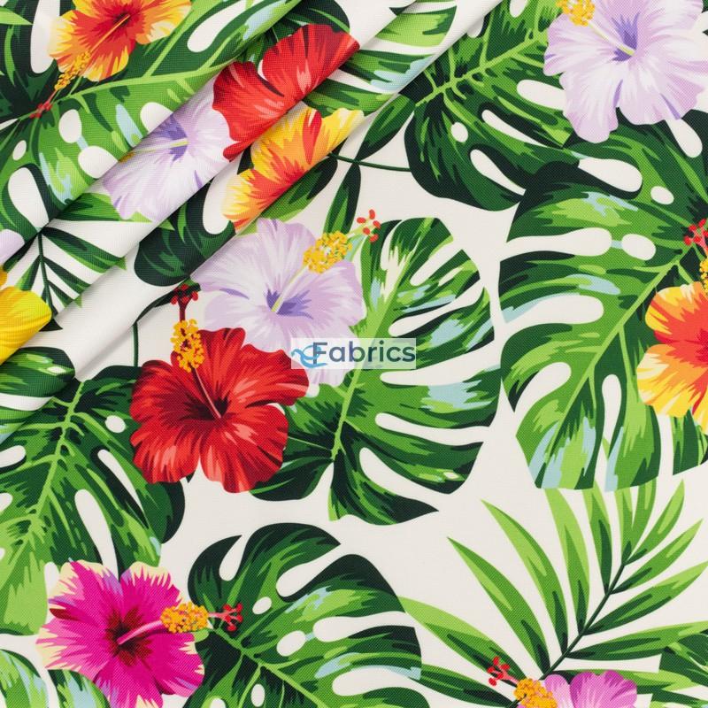 Liście i kwiaty egzotyczne