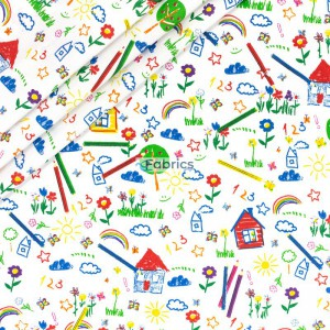 Kolorowe dziecięce rysunki
